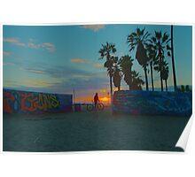 Admiring Graffiti In Venice Beach Poster