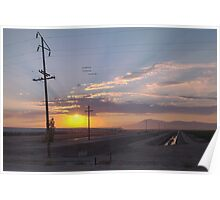 Morning On The Farm in California Poster