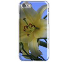 blue sky, white lily iPhone Case/Skin