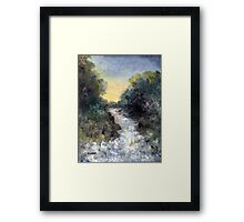 WHITE WATER COMING Framed Print