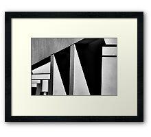 Angles and Shadows Framed Print