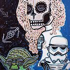 Star Wars Sugar Skull by Laura Barbosa