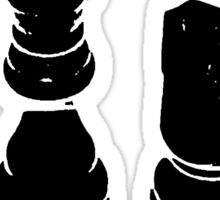 Silhouette of Chess Pieces Chessman Sticker