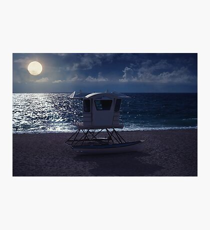 Ocean Moon Photographic Print
