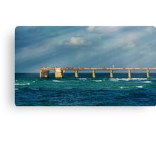 Newport Fishing Pier Canvas Print