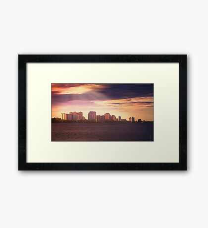 West Palm Beach Skyline Framed Print
