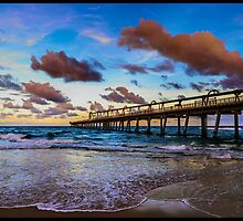 The Pumping Jetty at Sunset by Remi d'Argent
