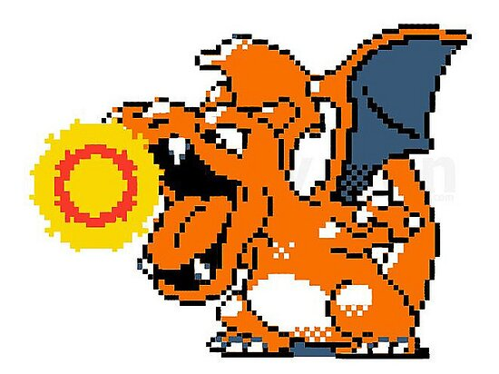 8 bit Charizard by IconicBarnacle