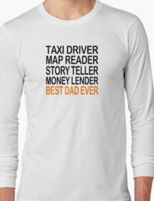 Best Dad Ever Fathers Day Birthday Present Gift Mens Long Sleeve T-Shirt
