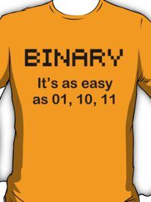 BINARY geek code funny pixels nerdy cpu linux programmer nerd T-Shirt