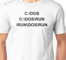 C DOS RUN funny geek nerd programming linux code reddit fan Unisex T-Shirt