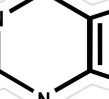 CAFFEINE molecule coffee funny NERD Sticker
