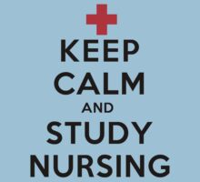 Keep Calm and Study Nursing (LS) One Piece - Short Sleeve