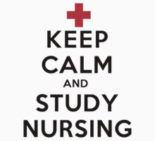 Keep Calm and Study Nursing (LS) Kids Clothes
