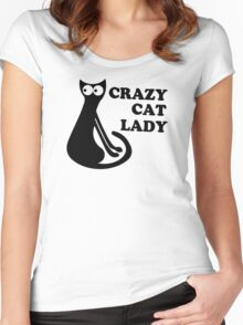 Crazy Cat Lady Funny Geek Nerd Cool Awesome Kittens Kitty Kitteh Women's Fitted Scoop T-Shirt