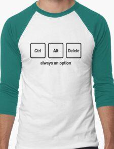 CTRL ALT DELETE nerdy geeky windows coding tech linux Men's Baseball ¾ T-Shirt