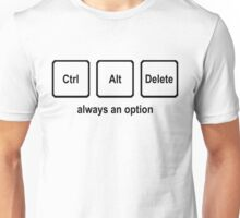 CTRL ALT DELETE nerdy geeky windows coding tech linux Unisex T-Shirt