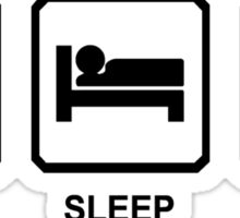 EAT SLEEP CODE funny programer developer html nerd geek Sticker