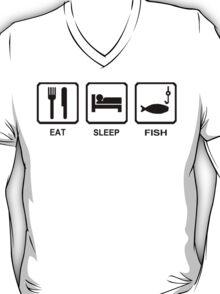 EAT SLEEP FISH funny fishing gear hunting bass outdoor T-Shirt