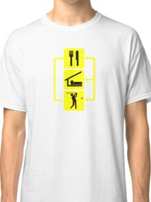 Eat Sleep Golf Golfing Cool Sport Dad Fathers Day Gift Classic T-Shirt