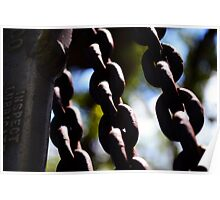 Old Rusted Chains Poster