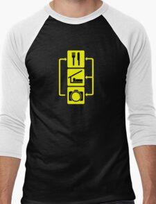 Eat Sleep Shoot Vertical Digital Camera Photography Photographer Geek Men's Baseball ¾ T-Shirt