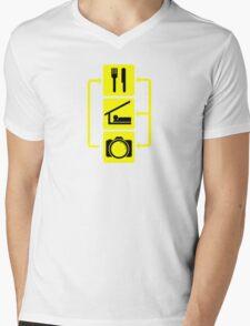 Eat Sleep Shoot Vertical Digital Camera Photography Photographer Geek Mens V-Neck T-Shirt