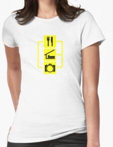 Eat Sleep Shoot Vertical Digital Camera Photography Photographer Geek Womens Fitted T-Shirt