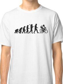 Evolution of a Cyclist Mens Black or Blue Cycling Bike Classic T-Shirt