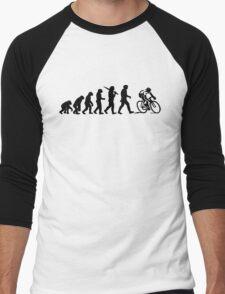 Evolution of a Cyclist Mens Black or Blue Cycling Bike Men's Baseball ¾ T-Shirt