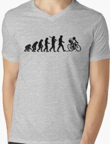 Evolution of a Cyclist Mens Black or Blue Cycling Bike Mens V-Neck T-Shirt