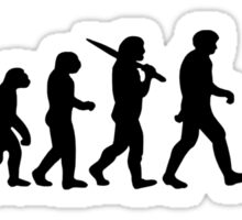 Evolution of a Cyclist Mens Black or Blue Cycling Bike Sticker