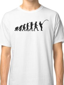 Evolution of a Fisherman Angler Mens Fishing Classic T-Shirt