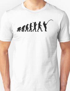 Evolution of a Fisherman Angler Mens Fishing T-Shirt