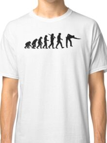 Evolution of Snooker or Pool Ape to Player Mens Black Top Gift Classic T-Shirt