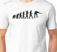 Evolution of Snooker or Pool Ape to Player Mens Black Top Gift Unisex T-Shirt