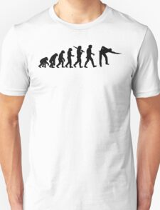 Evolution of Snooker or Pool Ape to Player Mens Black Top Gift T-Shirt