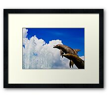 Reaching for the water Framed Print