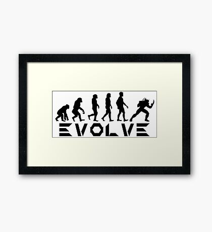 Evolution of X-Man - Wolverine Framed Print