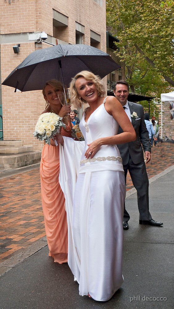 Rainy Day Bride by phil decocco