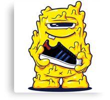 Yellow Monster shoes Art Design Monster Canvas Print