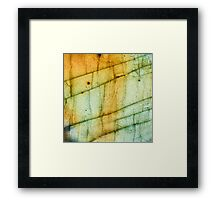 Labradorite Crystal Gemstone Macro Framed Print
