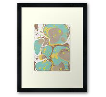 Philippine Marble Paper  - Yellows and Browns  Framed Print