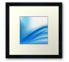 abstract light blue background Framed Print