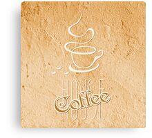 coffee house symbol  Canvas Print