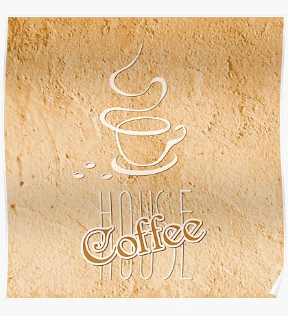 coffee house symbol  Poster