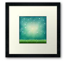 night fantasy sky Framed Print