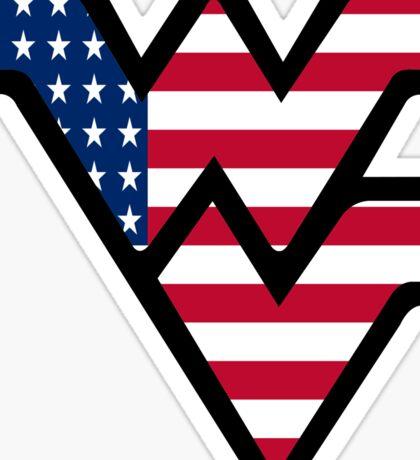 West Virginia University Logo America Sticker