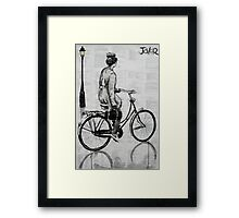 she rode everyday Framed Print