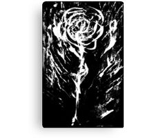 Black and White -  Raw Emotion in a Rose Canvas Print